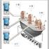 ドラム缶反転吸引システムと間欠式連続搬送